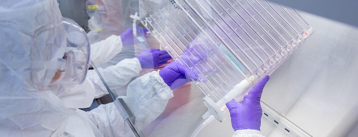 Researcher in Waisman Biomanufacturing